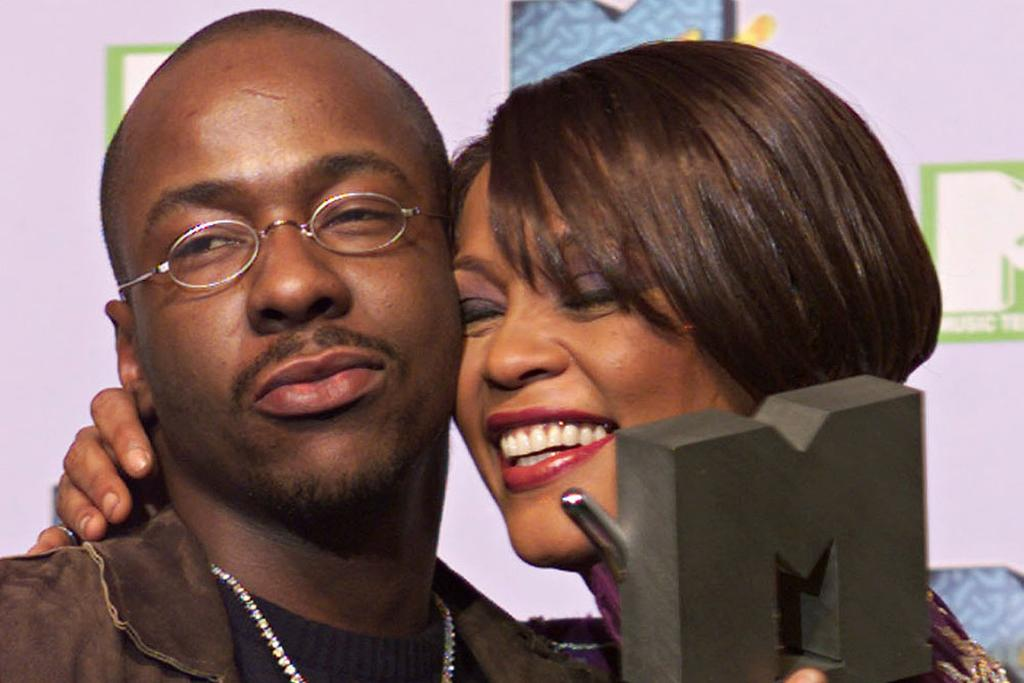 Whitney Houston with then husband Bobby Brown in 1999.