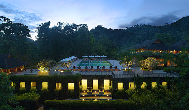 HEAVENLY HAVEN: The Datai is nestled into the jungle of the tropical island at Langkawi.