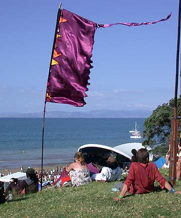 SPLORING: The beautiful Tapapakanga Regional Park, south-east of Auckland, plays host to the Splore Festival.