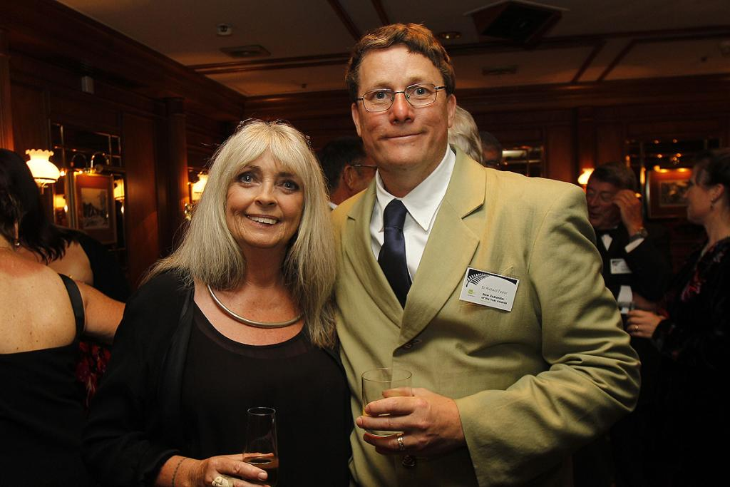 New Zealander of the Year award winner Sir Richard Taylor with World of Wearable Arts founder Dame Suzie Moncrieff.