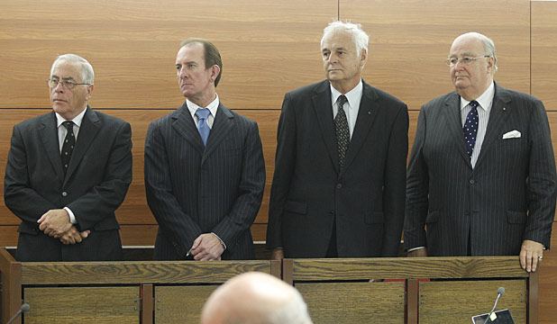 From left, Sir Douglas Graham, Michael Reeves, William Jeffries and Lawrence Bryant.