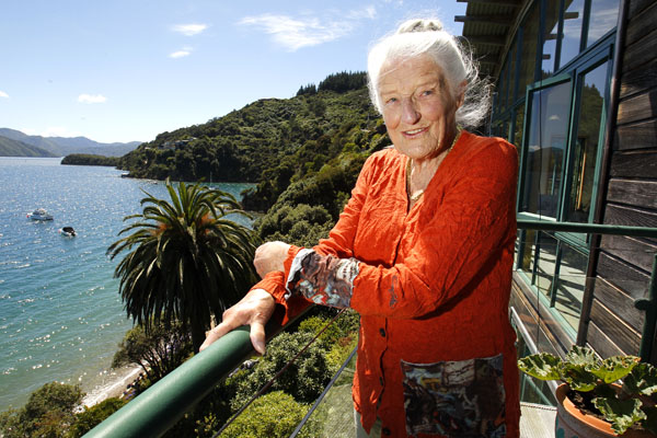 Peg Moorhouse at her home in Waikawa