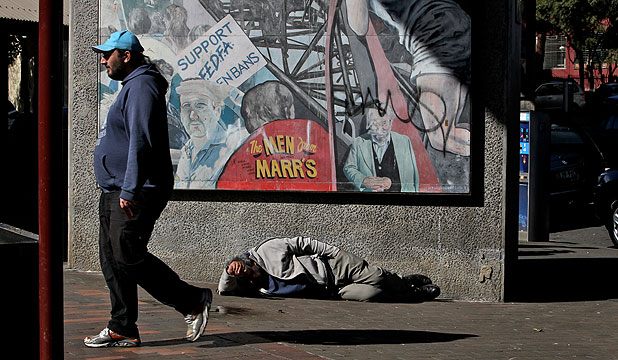SLEEPING ROUGH: New Zealand is behind other countries when it comes to funding, thinking and government action on homelessness.
