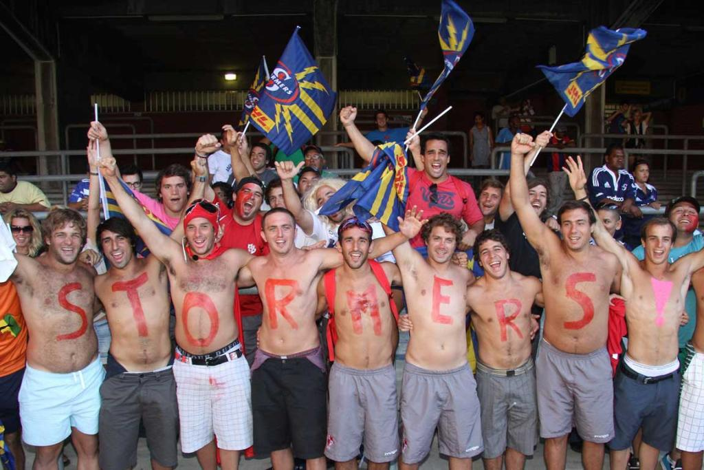 Stormers fans show their support during their 2012 Super Rugby match against the Hurricanes at Newlands.