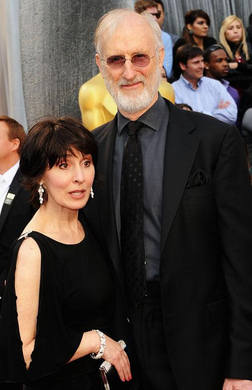 Actor James Cromwell, who stars in The Artist, and Anna Stuart on the red carpet.