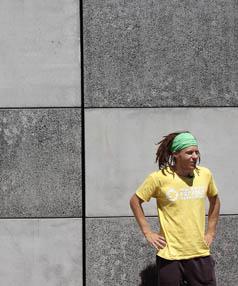 """Life force: Damien Puddle says Parkour """"puts a new lens on how you view people and the world ... The physical side of it starts to open your mind""""."""