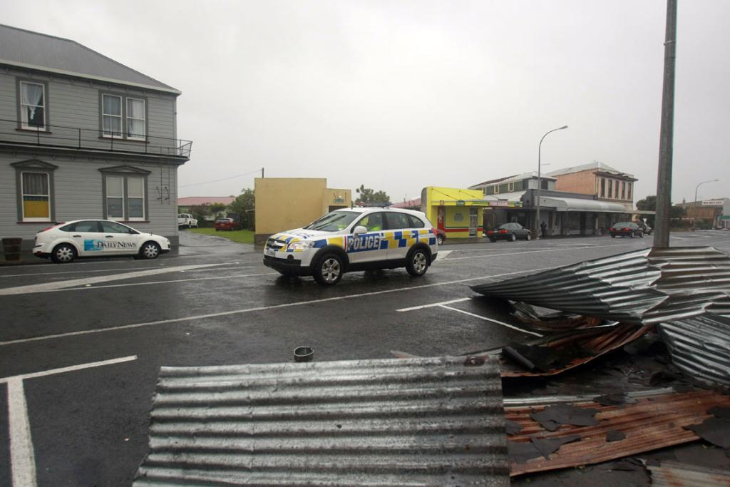 Damage in Patea from a weather bomb.