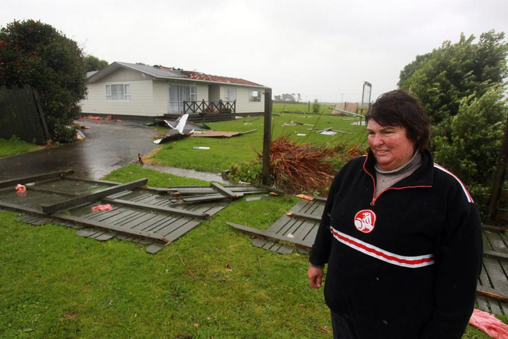 Diane McColl lost the roof of her house after a weather bomb hit Patea.