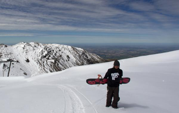 Summer snow at Mt Hutt