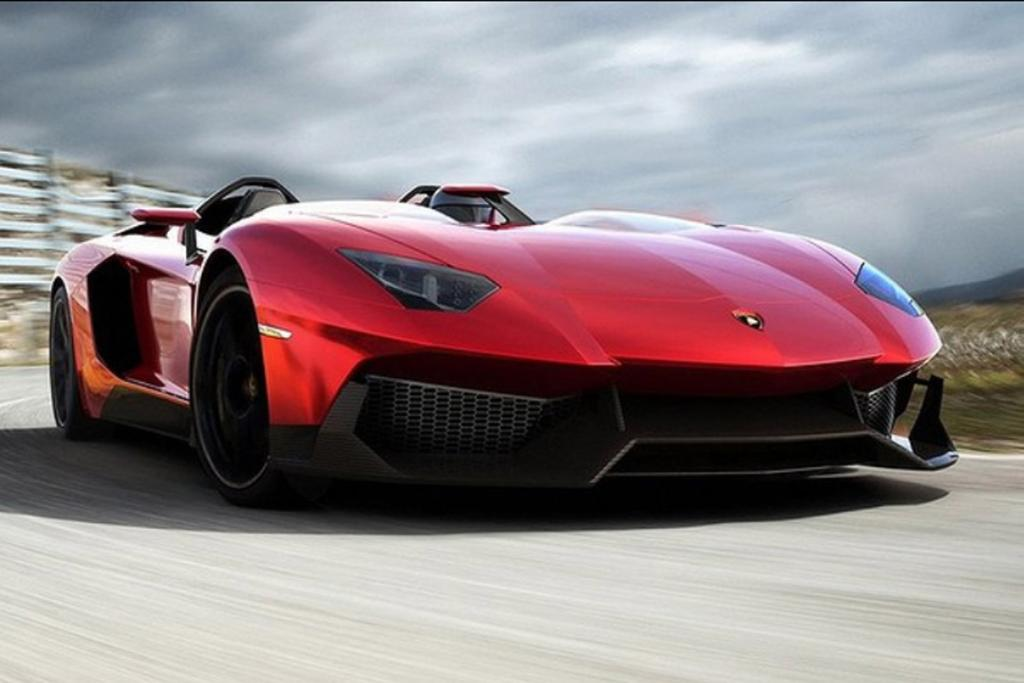 The Lamborghini Aventador J.