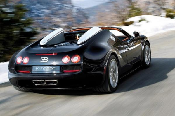 World's fastest convertible, the Bugatti Grand Sport Vitesse.