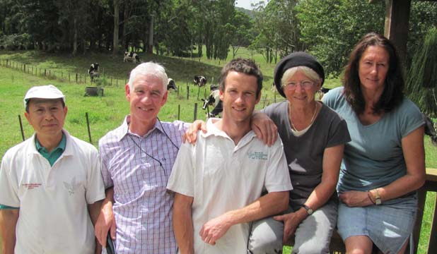 BIG CHEESES: Jake Rosevear, centre, with others from the team at Mahoe, south of Kerikeri, from left, Fu Ming Yao, Jake's parents Bob Rosevear and Anna Rosevear and Jo-Ann Hardwick-Smith.