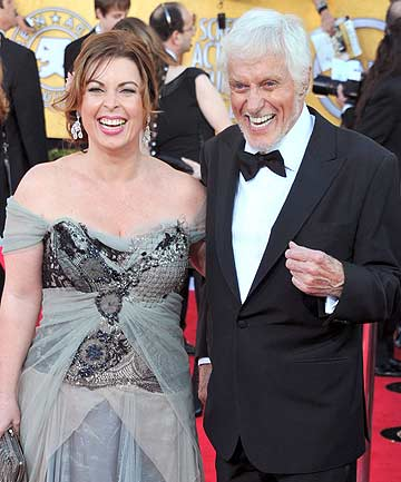 Arlene Silver and Dick Van Dyke arrive at the 18th Annual Screen Actors Guild Awards at The Shrine Auditorium in Los Angeles.