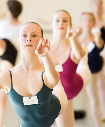 ON POINT: Kiwi dance students spent a day being taught by Royal New Zealand Ballet stars, including Ethan Stiefel.