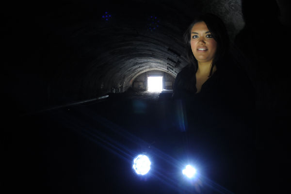 Exploring history: Visitors to the Spotlight on Seaview Industrial Fair this Sunday can have their own X-Files moment if -like fair co-organiser Courteney Bradley-Fox - they bring torches to explore the old Wainuiomata tunnel.