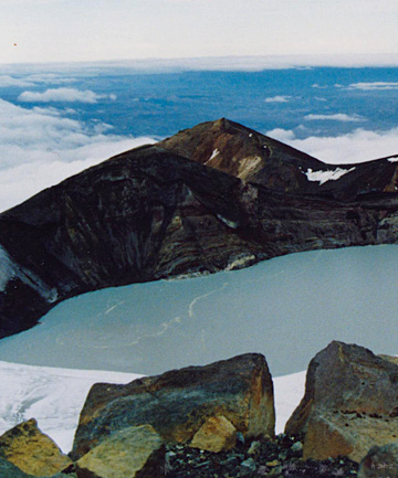 Mt Ruapehu's Crater Lake