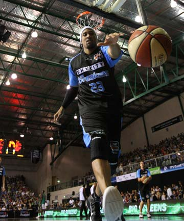 STICKING AROUND: Guard CJ Bruton, 36, has re-signed for two more seasons with the Australian NBL champion NZ Breakers.