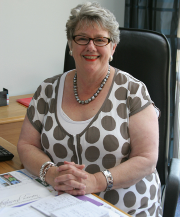IN THE OFFICE: Margaret Kouvelis has taken up residence in the mayor's office in the Manawatu District Council building following her swearing in ceremony at today's Council meeting.