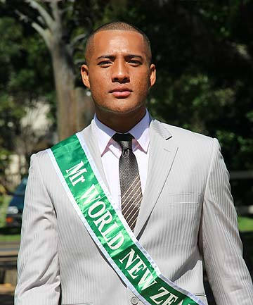 LOOKING GOOD: Courtenay Bernard won the Mr World New Zealand 2012 title this month and will go on to compete in the international contest in June.
