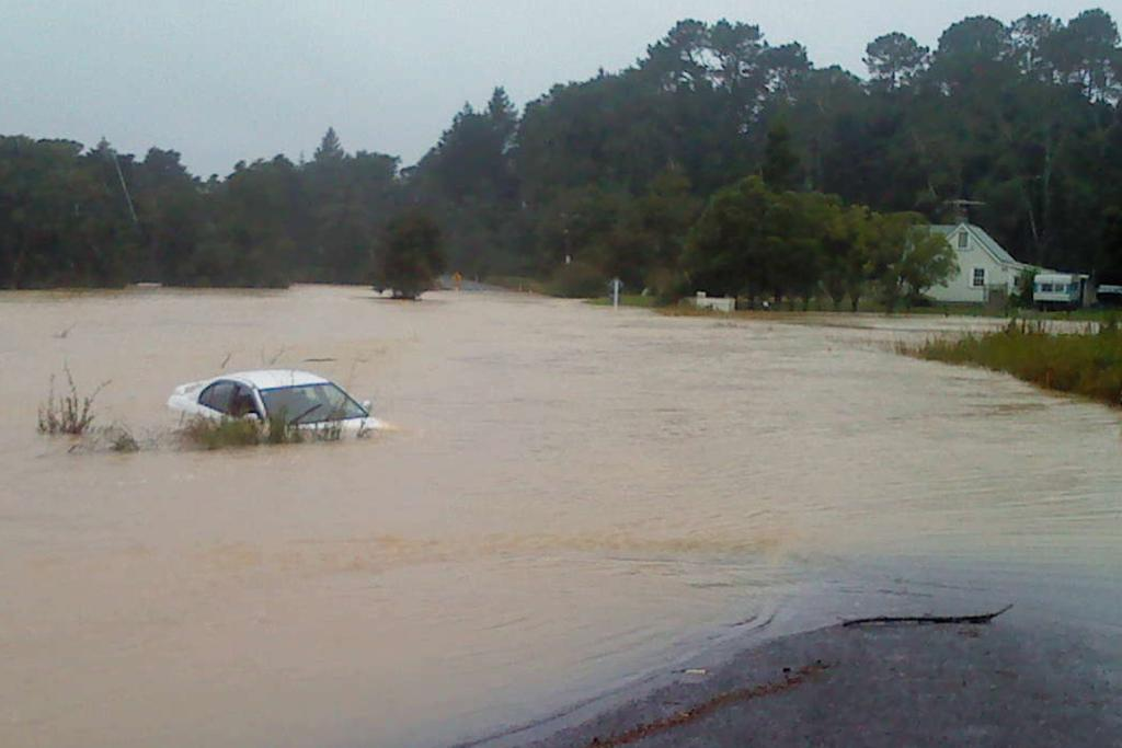Flooding on Marua Rd, north of Whangarei.