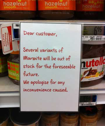 A sign at Miramar New World in Wellington yesterday.