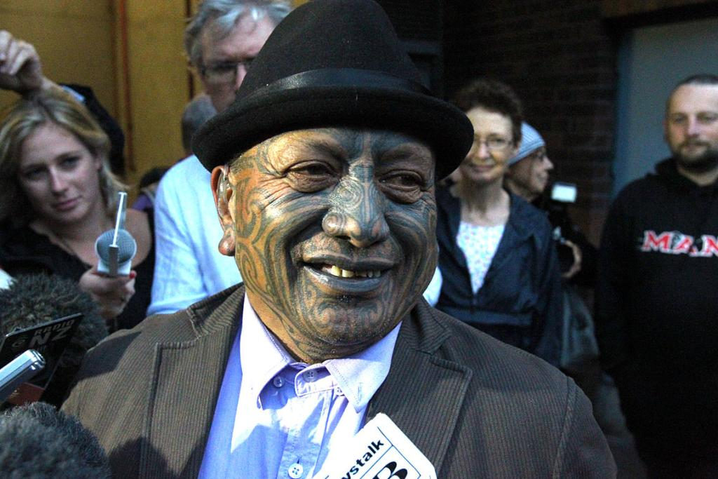 Tame Iti outside the Auckland High Court