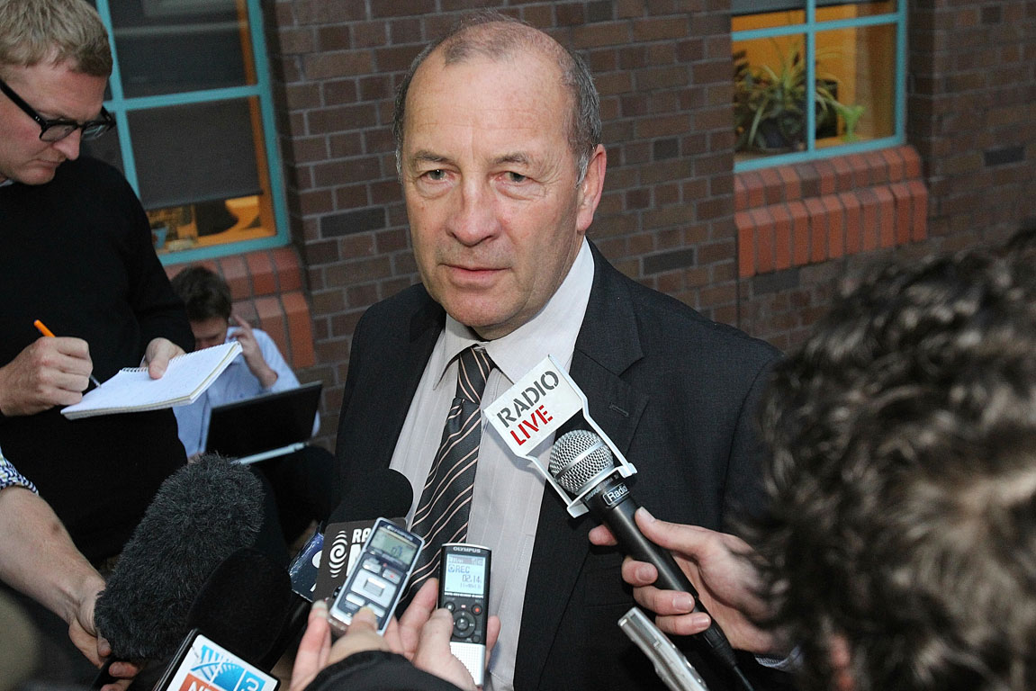Inspector Bruce Good leaves the Auckland High Court