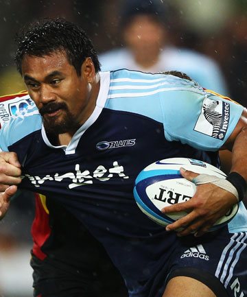 LAST GAME?: Isaia Toeava in action for the Blues against the Chiefs in Hamilton.