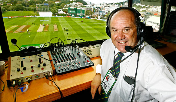 DOUBLE CENTURY: Broadcaster Bryan Waddle at the Basin Reserve, he is calling his 200th cricket test.