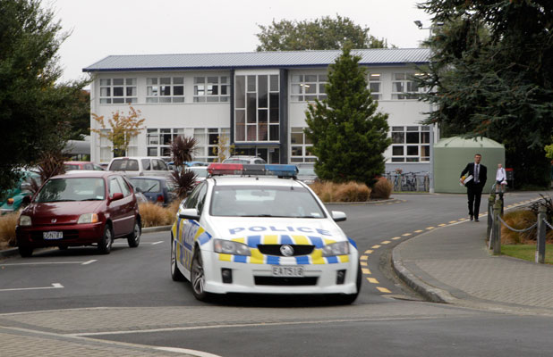 CALLOUT: Police leave Burnside High School early this afternoon after a gunman was reported on the grounds this morning.