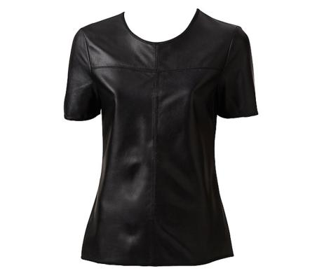 Witchery leather T-shirt