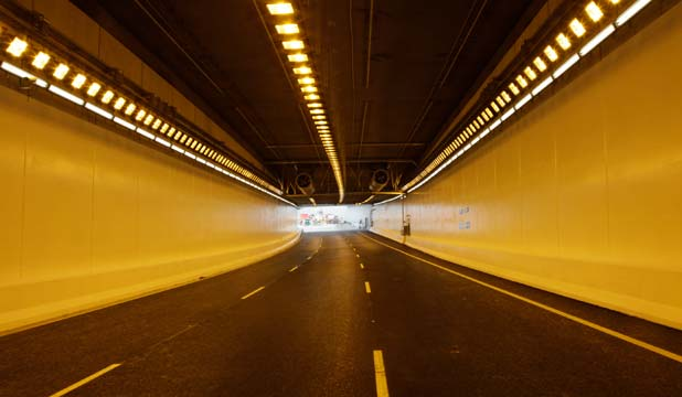 NEW ROUTE: The completed Victoria Park Tunnel in Auckland's CBD.