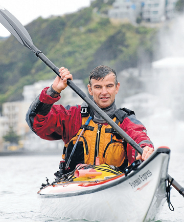 Freedom: Andy Blake, of Wellington Canoe and Kayak at Oriental Bay.