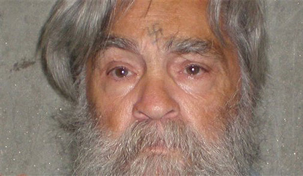 A California Department of Corrections photo shows 77-year-old serial killer Charles Manson.