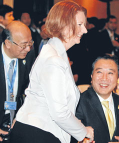 DERRIERE DEBATE: Australian Prime Minister Julia Gillard, who had the size of her bottom raised by feminist Germaine Greer on a recent talk show.