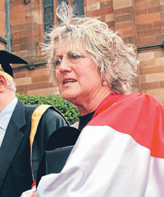 A MESS: Germaine Greer, who frequently presents herself with all the class of an unmade bed.