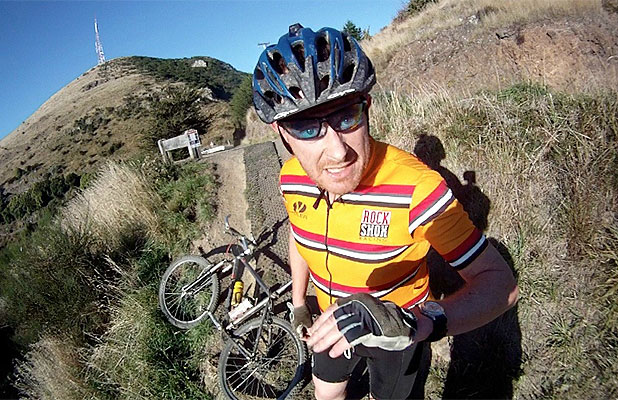 IDENTITY SOUGHT: This mountainbiker is alleged to have assaulted another mountainbiker on a Port Hills track in Christchurch on Sunday.