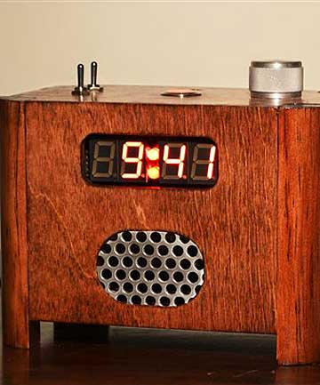 NO SLEEP INS: A supplied photo shows the Ramos alarm clock designed to force its owner to get out of bed. Once the alarm goes off, to stop it one must get out of bed, go into the kitchen or bathroom, and punch the day's date into a telephone-style keypad.