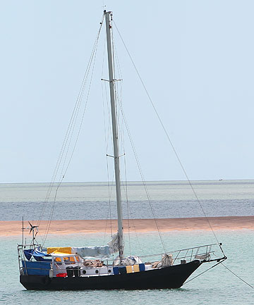 The Chinese refugee boat in Darwin enroute to New Zealand.