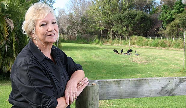 CAT CHAOS: Linda MacIver wants to stop wild cats killing native birds in Wai O Taiki Reserve.