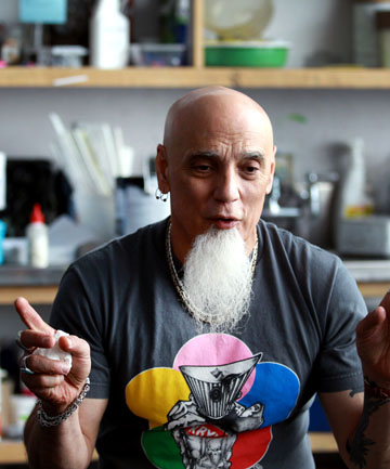 CREATIVE IMPULSE: Artist, performer and educator Umberto Crenca believes the world can bail itself out of its current troubles through nurturing art and creativity. The founder of the AS220 arts centre in America spoke at Puke Ariki yesterday.