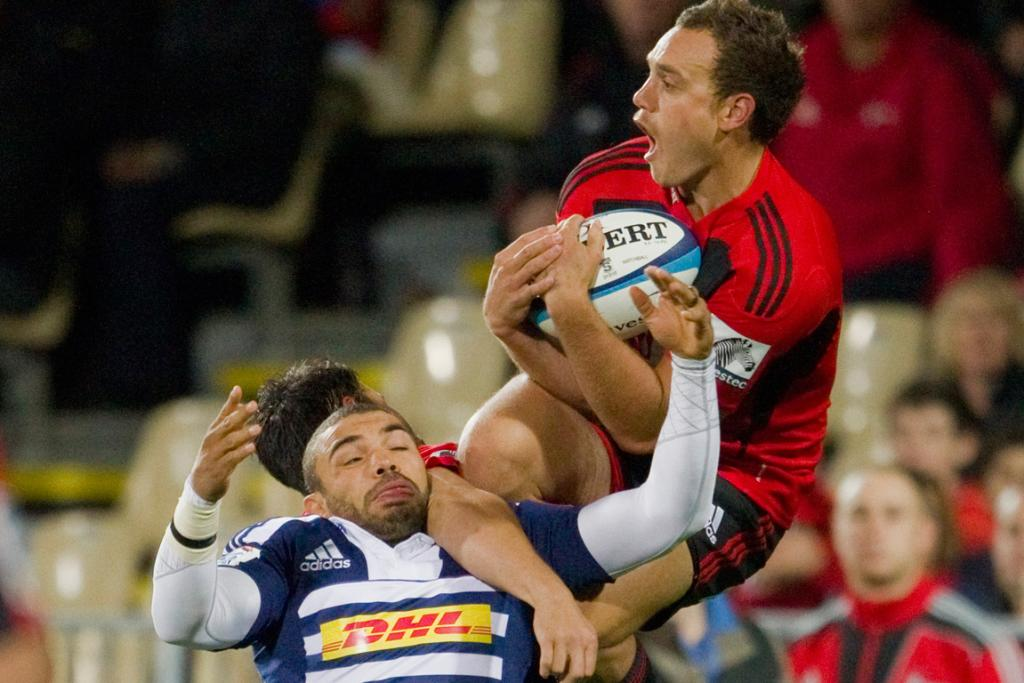 Israel Dagg during the Crusaders match against the Stormers at the AMI Stadium at Addington.