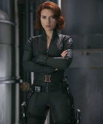 TOUGH: Scarlett Johansson as the Black Widow in Marvel's The Avengers.