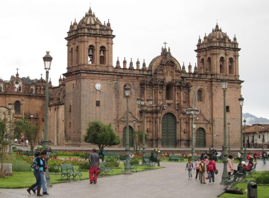 PAST GLORY: Spanish colonial architecture in Cusco's Plaza de Armas.