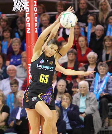 GOAL THREAT: Sydney Swifts say they want to limit the chances Magic's shooting ace Irene Van Dyk receives.