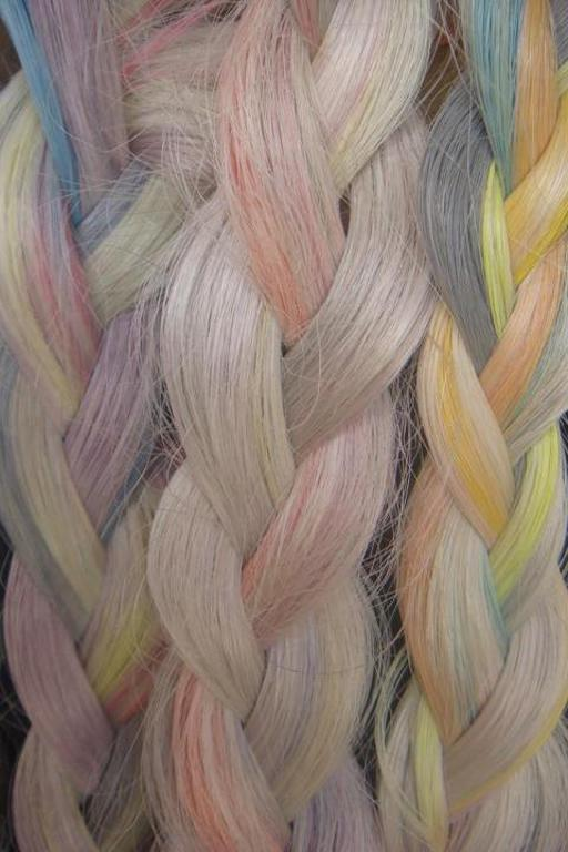 Rebecca Brent's hair work with pastels.
