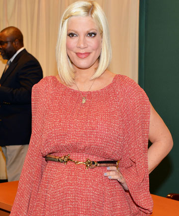"DON'T GET TOO CLOSE: Tori Spelling's husband says she is ""super fertile""."
