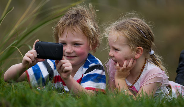 Young talent: Oli Toomey-Jakobs, 8, and his sister Sjaan Toomey-Jakobs, 6,  have made a film about compost for the Reel Earth Film Festival in Palmerston North.