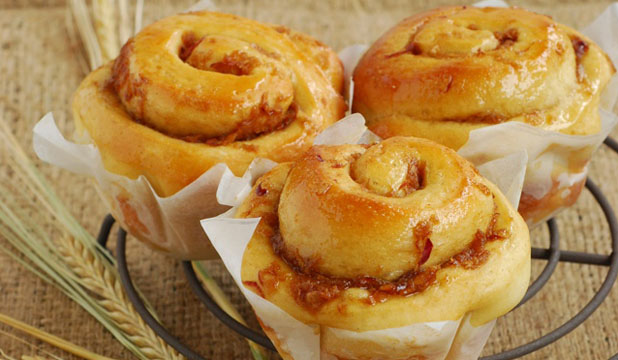 ROLL WITH IT: Treat yourself to these delectable apple and ginger brioche rolls.
