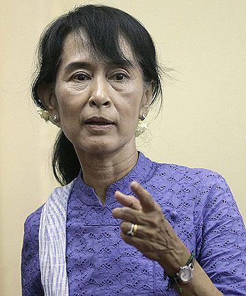 THE LADY: Aung San Suu Kyi.